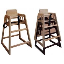 Chaise haute bébé en bois naturel