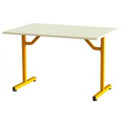 Table de restauration Fun à dégagement latéral plateau stratifié 110x70 cm