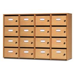 Meuble courriers 4 colonnes 16 cases L120xP40xH80 cm