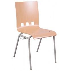 Chaise coque bois Bertille 4 pieds diam 20 mm accrochable T6