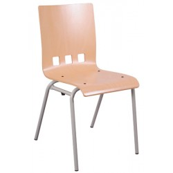 Chaise coque bois Bertille 4 pieds diam 20 mm T6 autres coloris