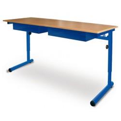 Table à dégagement latéral Alice réglable mélaminé 130x50 cm T4 à T6
