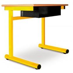 Table à dégagement latéral Alice fixe stratifié 70x50 cm T4 à T7