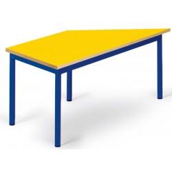 Table maternelle Elise stratifié pieds métal trapeze 120 cm TC à T3