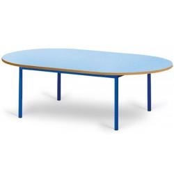Table maternelle Elise stratifié pieds métal ovale 120x90 cm TC à T3