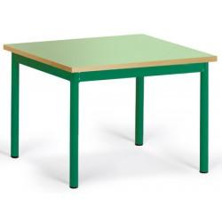 Table maternelle Elise stratifié pieds métal 60x60 cm TC à T3