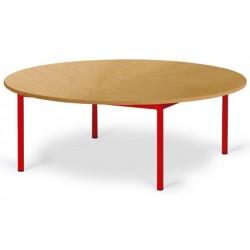 Table maternelle Elise stratifié pieds métal ronde 120 cm TC à T3