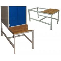 Banc pour armoire vestiaire monobloc industrie propre 2 cases