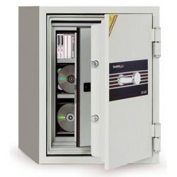 Coffre ignifugé 7L à clé pour supports sensibles H42xl35,2xP43,3 cm