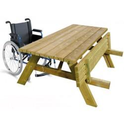 Table de pique-nique accès PMR L177xP153xH80 cm