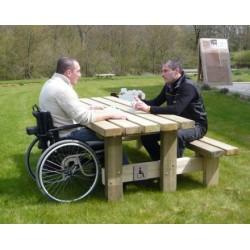 Table de pique-nique access plus PMR L200 x p166 cm