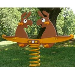 Jeux à ressort double polyéthylène les ânes (2 à 12 ans)