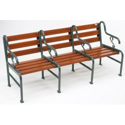 Banc Style 3 places L173cm assise et dossier bois résineux lasuré