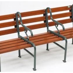Rallonge 1 place pour fauteuil Style assise et dossier bois résineux lasuré L69 cm