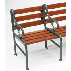 Fauteuil rallongeable Style assise et dossier bois résineux lasuré L69xP50xH73 cm