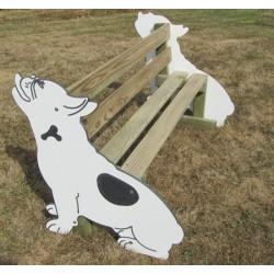 Banc en bois chien L150 cm