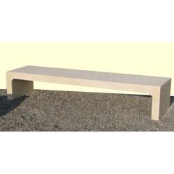 Banquette Hyères en béton blanc L200 cm