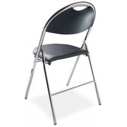 Lot de 4 chaises pliantes Lucie tissu enduit non feu M2