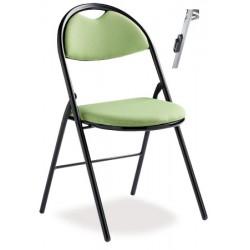 Lot de 4 chaises pliantes accrochables Lucie tissu non feu M1 king