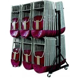 Chariot de stockage pour 84 chaises pliantes