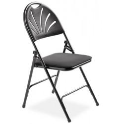 Lot de 4 chaises pliantes Clara assise vinyl