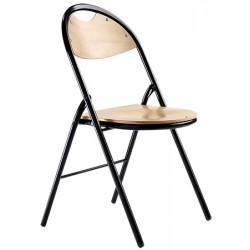 Lot de 4 chaises pliantes Lucie assise hetre