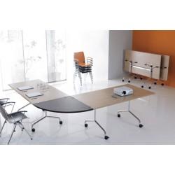 Table mobile et rabattable Oxygène 160x80 cm structure alu
