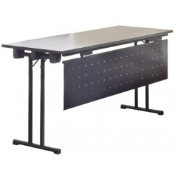 Table pliante de conference Beta mélaminé 140x60 cm chant PVC
