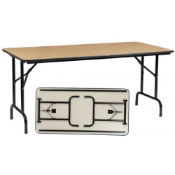 Table pliante Alpha 120x80 cm mélaminé 22 mm chant PVC