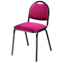 Lot de 4 chaises empilables Eglantine tissu non feu M1