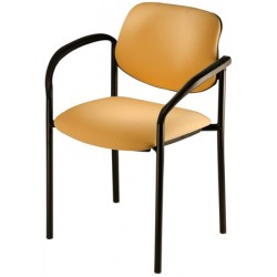 Lot de 4 fauteuils empilables Galiléo simili cuir