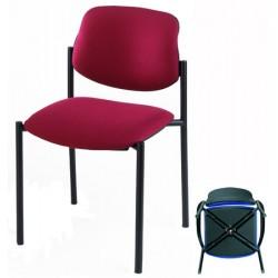Lot de 4 chaises empilables Galiléo tissu standard G1