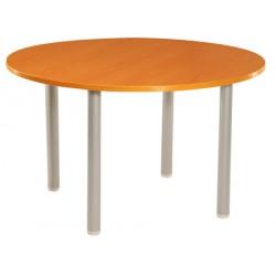 Table de réunion ronde diam. 100 cm pieds tube
