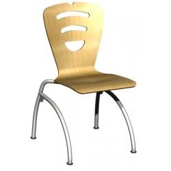 Chaise coque Lucy NF Piètement 4 pieds en C T6