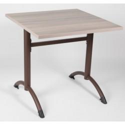 Table de restauration à dégagement latéral Elysée stratifié chant ABS 80x80 cm T6