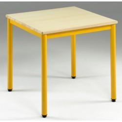 Table de restauration NF 4 pieds Flore stratifié chant alaise 80x80 cm