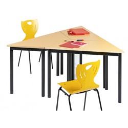 Table de réunion NF 4 pieds Flore mélaminé PVC 120x60x60 cm
