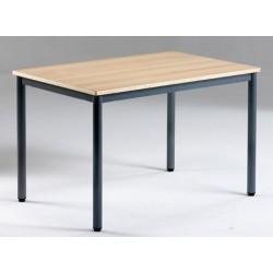 Table de réunion NF 4 pieds Flore mélaminé PVC 140x70 cm