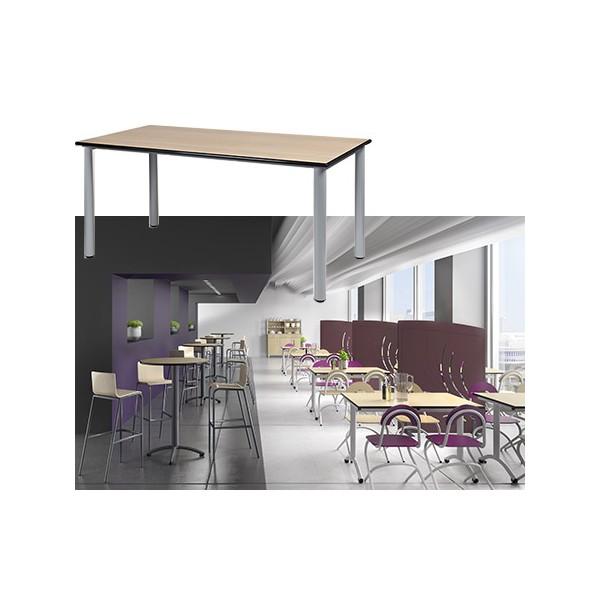 Table restauration Maïwenn 4 pieds 180x80 cm stratifié chant alaisé T1 à T6