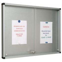 Vitrine Gentilly verre securit portes coulissantes fond tole 100x160 cm