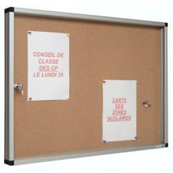 Vitrine Gap intérieures à porte ouvrante fond liège uni 95x110 cm 15 A4