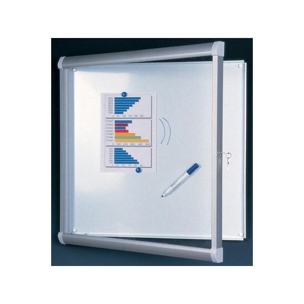 Vitrine extérieure Licorne verre sécurit fond métal 4 A4 (70x50 cm)