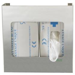 Distributeur inox pour 2 boites de gants jetables