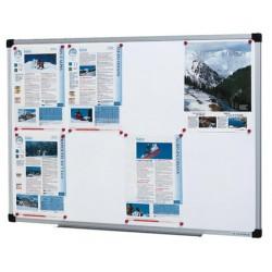 Tableau d'affichage laqué blanc 94x173cm 24 A4 autres coloris