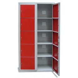 Armoire scolaire casier visitable 2 colonnes 10 cases L90xP50xH180 cm