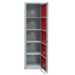 Armoire scolaire casier visitable 1 colonne 5 cases L45xP50xH180 cm