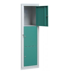 Armoire scolaire casier visitable 1 colonne 3 cases L45xP50xH158 cm