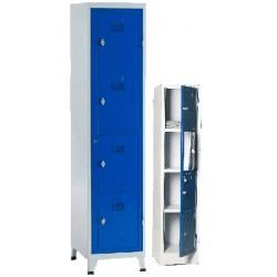 Armoire college monobloc 1 colonne 4 cases L45 cm à ouverture centralisée