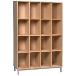 Meuble élèves ouvert 16 cases sur socle L120xH183xP45 cm