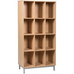 Meuble élèves ouvert 12 cases sur socle L90xH183xP45 cm
